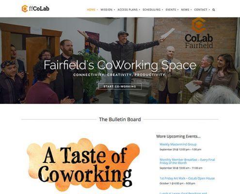 Fairfield CoLab Website and Brand Design