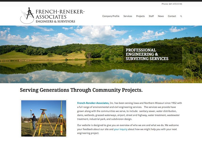 French-Reneker-Associates, Inc. Website & Logo Design