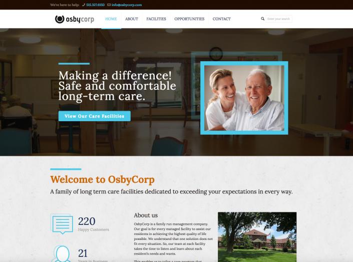 OsbyCorp Website Design