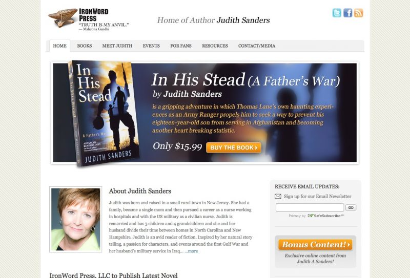 IronWordPress Author Website Design