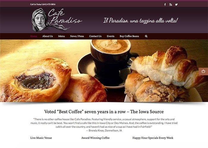 Cafe_Paradiso_Website_Design_Fairfield_Home700x500