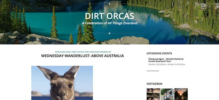Dirt Orcas Website Design