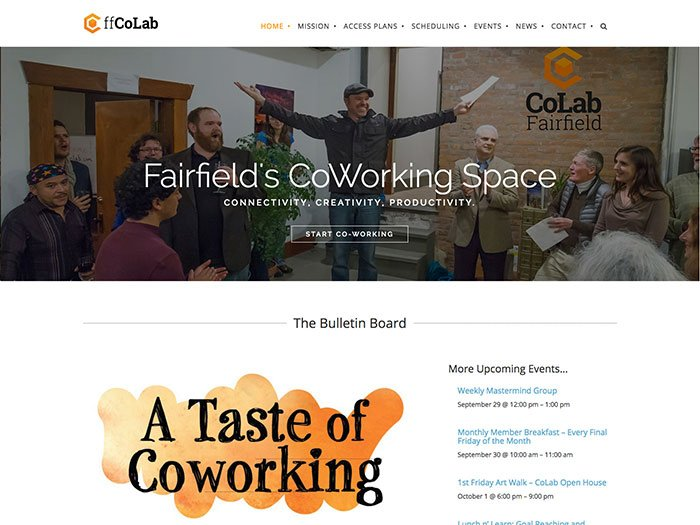 Fairfield CoLab Website and Brand Design