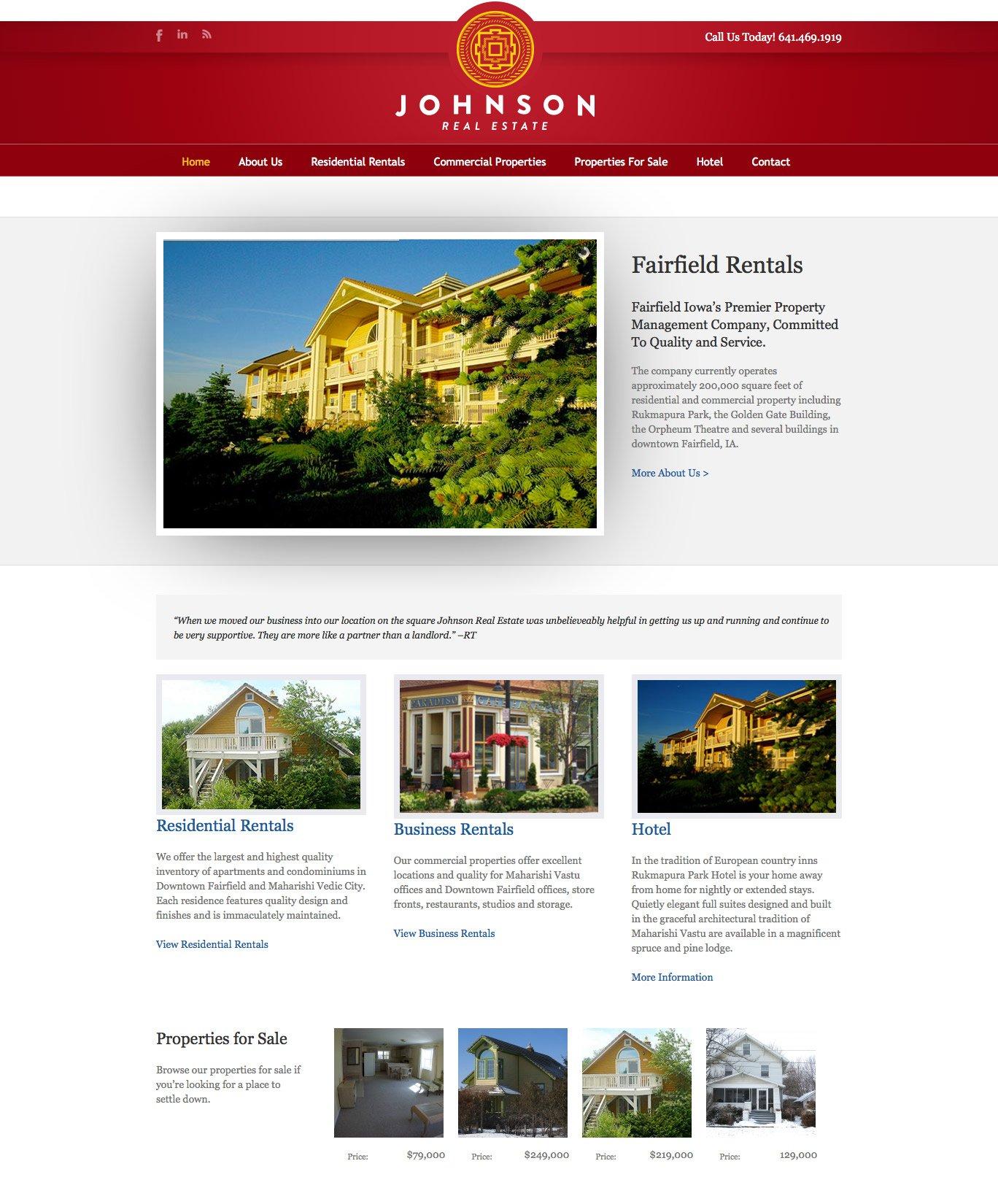Rent Apartment Website: Fairfield Rentals Real Estate Website