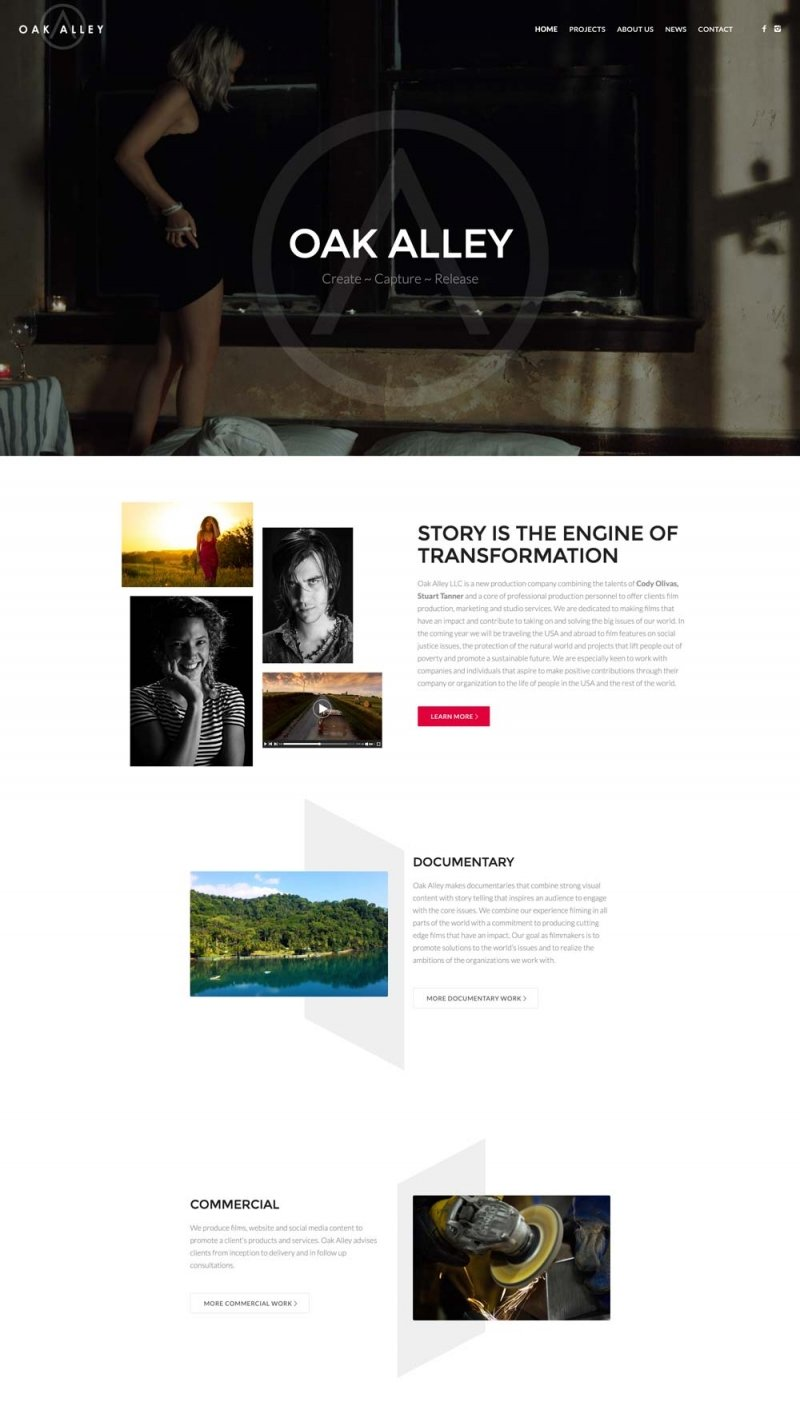 Film Production wordpress website design