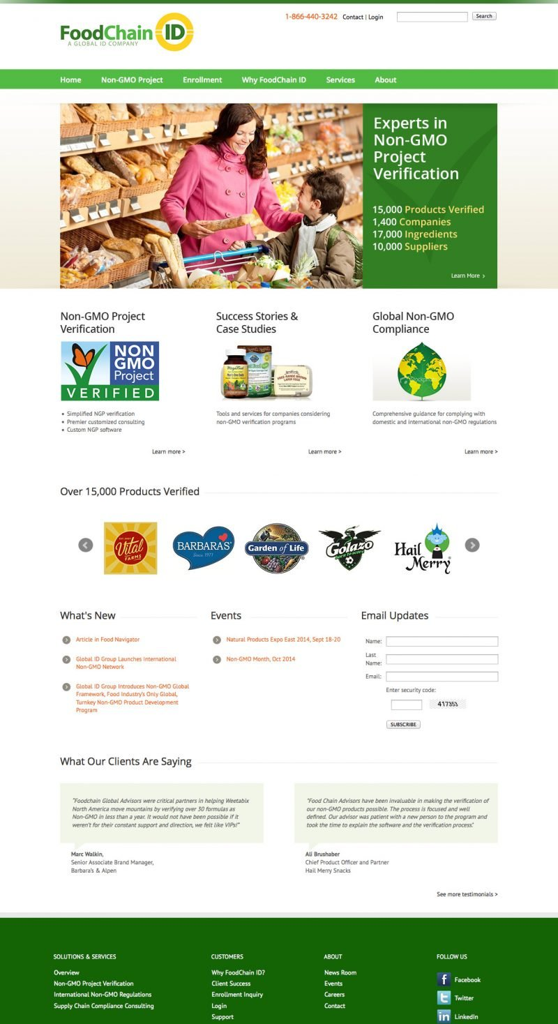 Food Chain ID Website Design