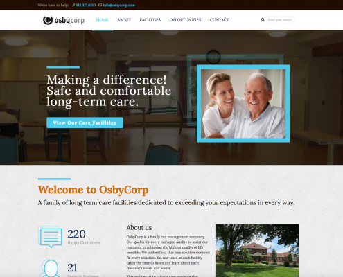 OsbyCorp Website Design