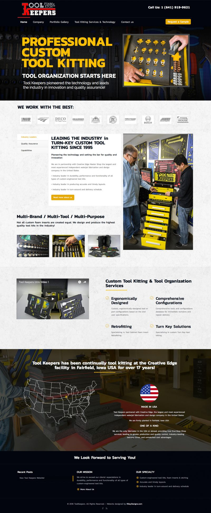 Tool Keepers Website Design