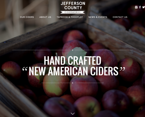 Hard Cider Wordpress Website