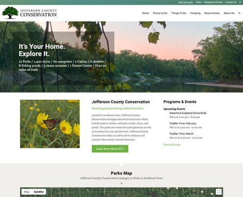 jefferson county conservation website design