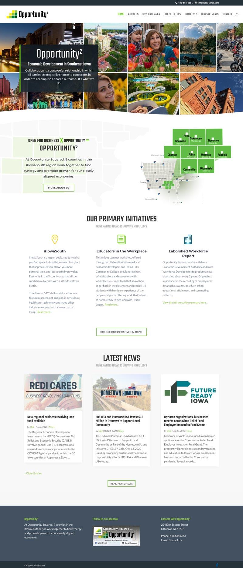 op2iowa.com economic-development website design