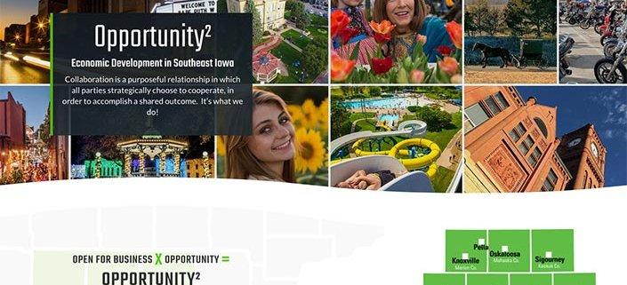 op2iowa.com economic development website design and logo