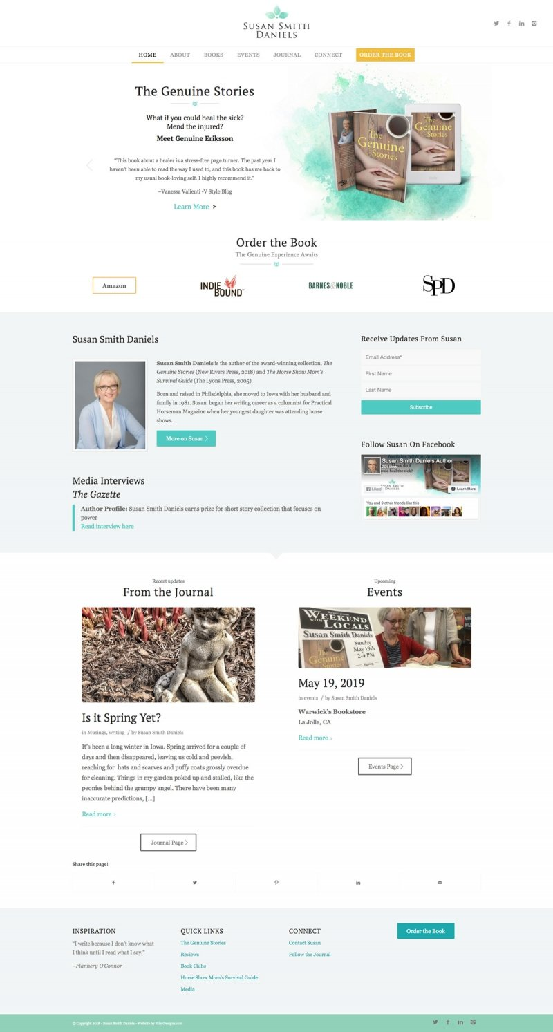 wordpress beautiful author website design and branding